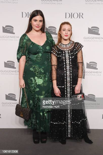 Alessandra GarciaLorido and Daniella GarciaLorido attend the 2018 Guggenheim International Gala PreParty made possible by Dior at Solomon R...