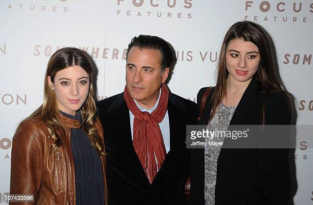 Alessandra GarciaLorido Andy Garcia and Dominik GarciaLorido attend the 'Somewhere' Los Angeles Premiere at ArcLight Cinemas on December 7 2010 in...