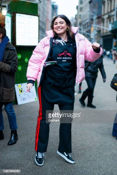 Alessandra GarciaLorido attends Cookies for Kids' Cancer fundraiser in the Flatiron District on December 14 2018 in New York City
