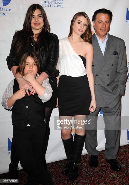 Alessandra Garcia-Lorido,Andres Garcia,Dominik Garcia-Lorido and Andy Garcia attends Miami International Film Festival 2010 Premiere of City Island...