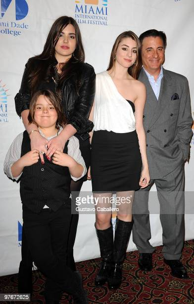 Alessandra GarciaLoridoAndres GarciaDominik GarciaLorido and Andy Garcia attends Miami International Film Festival 2010 Premiere of City Island at...