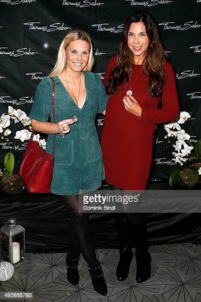 Alessandra Geissel and Alexandra Polzin attend the Thomas Sabo grand flagship store opening on October 14 2015 in Munich Germany