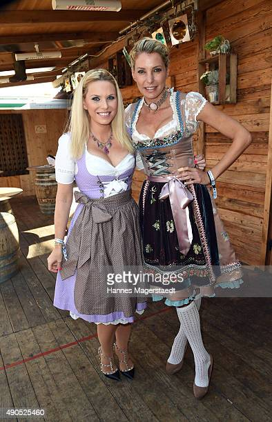 Alessandra Geissel and Giulia Siegel attend the Ladies Lunch at Fisch Baeda during the Oktoberfest 2015 at Theresienwiese on September 29 2015 in...