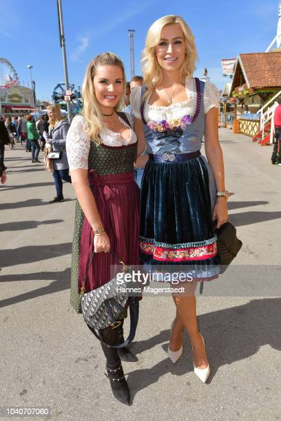 Alessandra Geissel and Verena Kerth during the charity lunch in favor of the Frohes Herz eV as part of the Oktoberfest 2018 at Zur Bratwurst tent at...