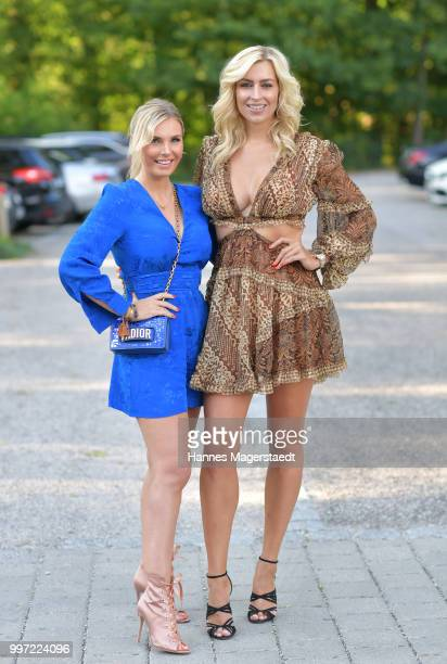 Alessandra Geissel and Verena Kerth during the dinner Royal at the Gruenwalder Einkehr on July 12 2018 in Munich Germany
