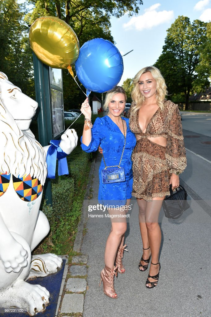 Alessandra Geissel and Verena Kerth during the dinner Royal at the Gruenwalder Einkehr on July 12, 2018 in Munich, Germany.