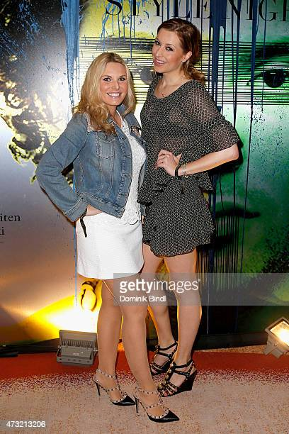 Alessandra Geissel and Verena Kerth during the Genlemen Style Night at Hotel Vier Jahreszeiten on May 13 2015 in Munich Germany