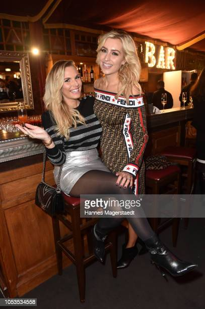 Alessandra Geissel and Verena Kerth during the VIP premiere of Schuhbecks Teatro at Spiegelzelt on October 25 2018 in Munich Germany
