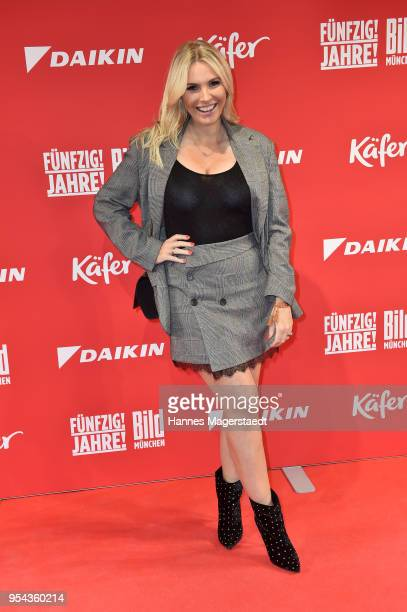 Alessandra Geissel attends the BILD Muenchen Newspaper 50th anniversary party at MTTC IPHITOS on May 3 2018 in Munich Germany