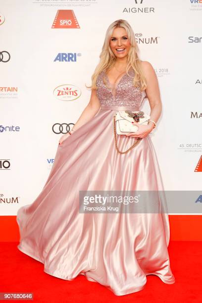 Alessandra Geissel attends the German Film Ball 2018 at Hotel Bayerischer Hof on January 20 2018 in Munich Germany