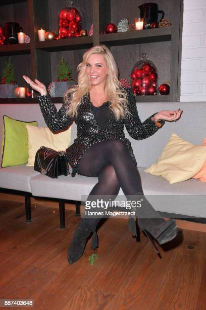 Alessandra Geissel during the CONNECTIONS PR XMAS Cocktail at Kaefer Atelier on December 6 2017 in Munich Germany