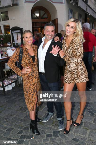 Alessandra Geissel Pedro da Silva and Verena Kerth during the Munich CONNEXxxions and Connections PR summer party at Steirer am Markt on September 10...