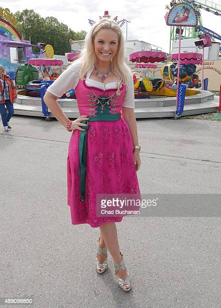 Alessandra Geissel sighted at the Fisch Baeda during the Oktoberfest 2015 Opening at Theresienwiese on September 19 2015 in Munich Germany