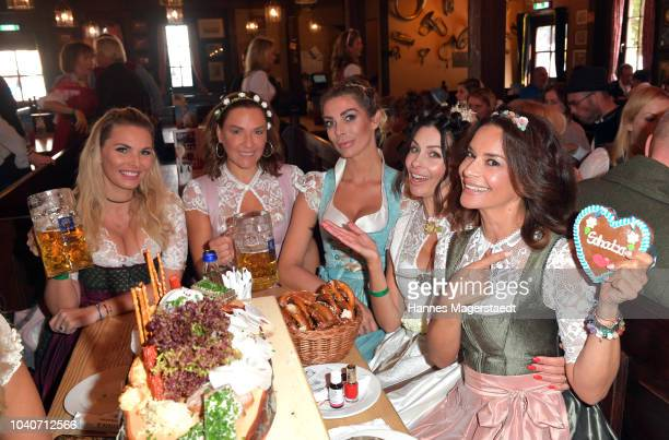 Alessandra Geissel Simone Ballack Annika Gassner Jeannette Graf and Gitta Saxx during the charity lunch in favor of the Frohes Herz eV as part of the...