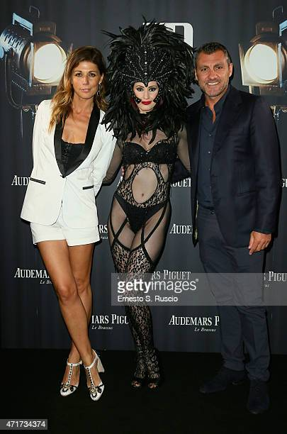 Alessandra Grillo and Christian Vieri attend The Audemars Piguet Classic Revolution Party for the launch of the new Royal Oak Chrono Limited Edition...