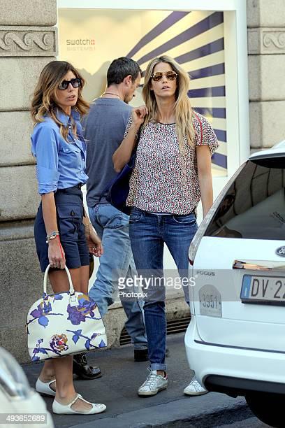 Alessandra Grillo and Elena Santarelli are seen on May 24 2014 in Milan Italy