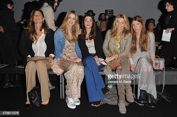 Alessandra Grillo Elena Santarelli Valentina Scambia Federica Fontana and Virginia Galateri attend the Kristina Ti Show during Milan Fashion Week...