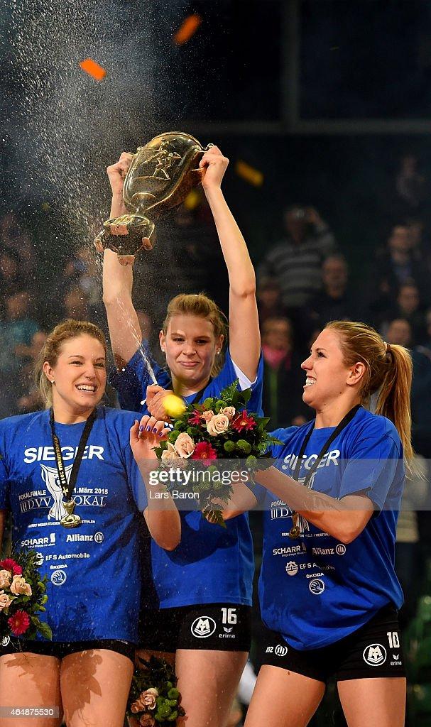 German Volleyball Cup Final Women - Ladies in Black Aachen v Allianz MTV Stuttgart : News Photo