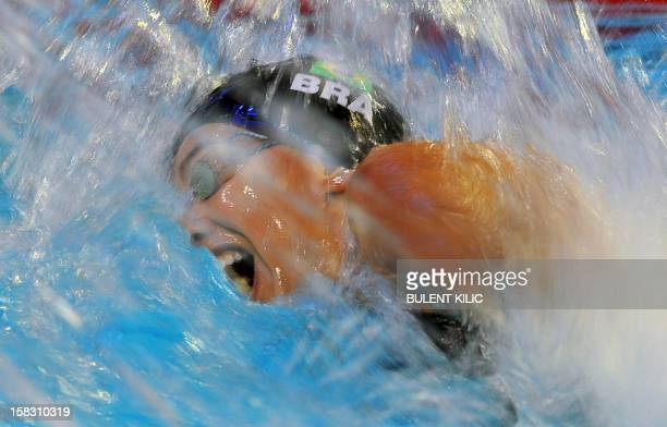 Alessandra Marchioro of Brasil competes during the women 100m freestyle qualification on December 13 2012 of the FINA World Short Course Swimming...