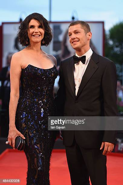 Alessandra Martines and Cyril Descours attend the 'Hungry Hearts' premiere during the 71st Venice Film Festival on August 31 2014 in Venice Italy