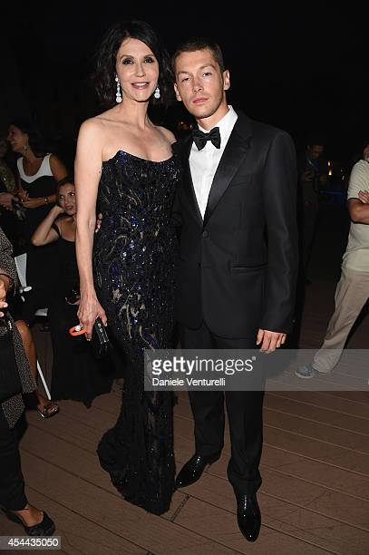 Alessandra Martines and Cyril Descours attend the Kineo Award during the 71st Venice Film Festival on August 31 2014 in Venice Italy