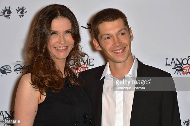 Alessandra Martines and Cyril Descours attend the 'Lancome Show By Alber Elbaz' Party at Le Trianon on July 2 2013 in Paris France