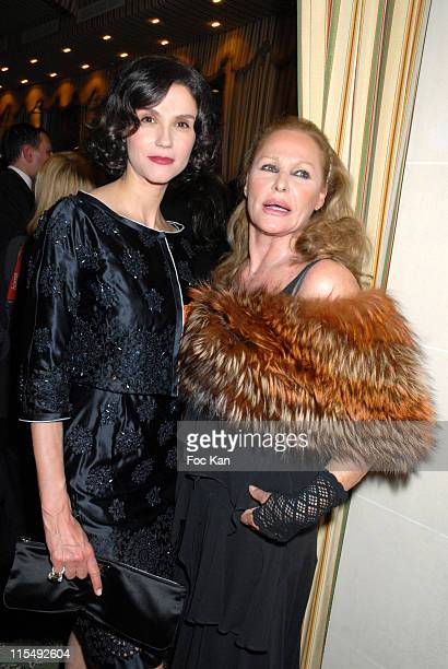 Alessandra Martines and Ursula Andress attend the Bests Awards 2007 Ceremony Party at the Bristol on December 9 2007 in Paris France