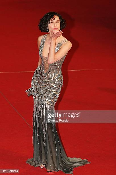 Alessandra Martines arrives at the premiere of 'Into The Wild' at the Auditorium of Rome during the 2nd Rome Film Festival October 24 2007 in Rome...