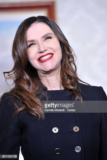 Alessandra Martines attends a photocall for 'Il Bello Delle Donne' tv series on January 10 2017 in Milan Italy