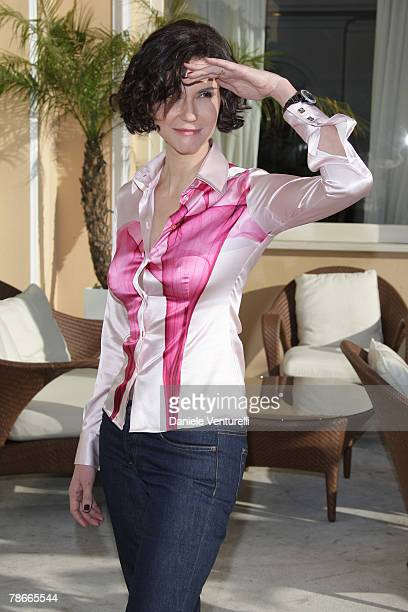 Alessandra Martinez poses at the Tiberio Hotel in Capri Island on December 28 2007 in Capri Italy