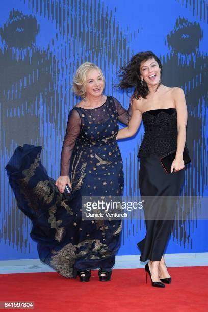 Alessandra Mastronardi and Alberta Ferretti attend the Franca Sozzani Award during the 74th Venice Film Festival on September 1 2017 in Venice Italy
