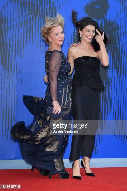 Alessandra Mastronardi and Alberta Ferretti attend the The 1st Franca Sozzani Award during the 74th Venice Film Festival at Sala Giardino on...