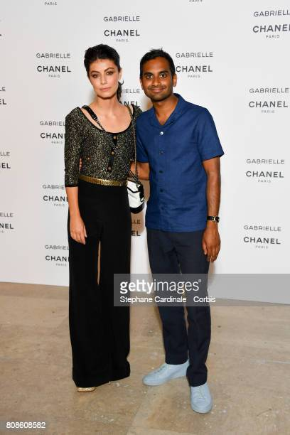 Alessandra Mastronardi and Aziz Ansari attend the launch party for Chanel's new perfume 'Gabrielle' as part of Paris Fashion Week on July 4 2017 in...