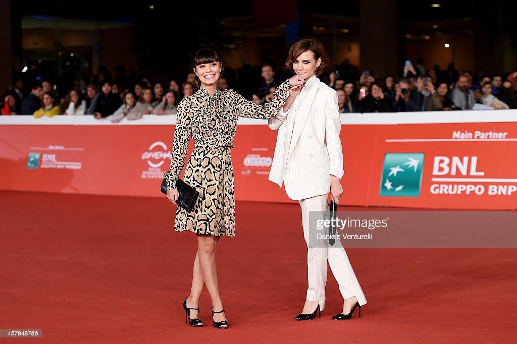 Alessandra Mastronardi and Camilla Filippi attend the 'A Most Wanted Man' red carpet during the 9th Rome Film Festival at Auditorium Parco Della Musica on October 25, 2014 in Rome, Italy.