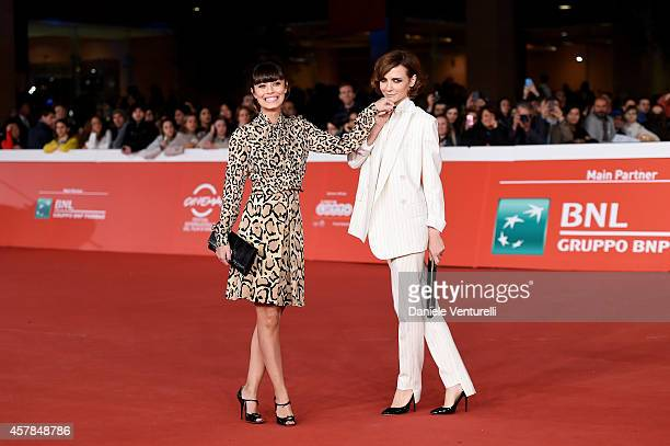 Alessandra Mastronardi and Camilla Filippi attend the 'A Most Wanted Man' red carpet during the 9th Rome Film Festival at Auditorium Parco Della...
