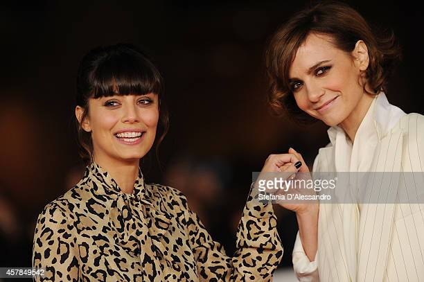 Alessandra Mastronardi and Camilla Filippi attend the 'A Most Wanted Man' Red Carpet during the 9th Rome Film Festival on October 25 2014 in Rome...