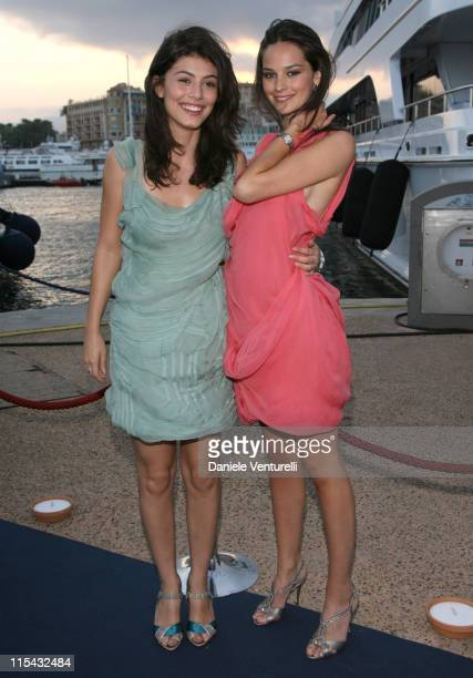 Alessandra Mastronardi and Katy Saunders during 2007 Cannes Film Festival Cocktail Party Hosted by Alberta Ferretti in Cannes France