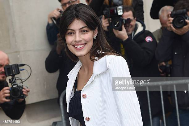 Alessandra Mastronardi arrives at Chanel Fashion Show during Paris Fashion Week Fall Winter 2015/2016 on March 10 2015 in Paris France