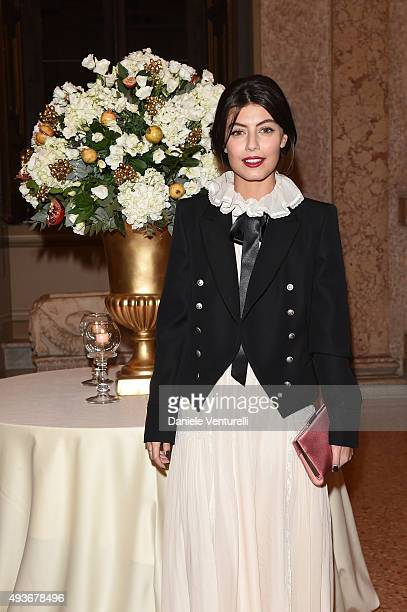 Alessandra Mastronardi attends 'Ellen Page A Tribute To Commitment' dinner gala during the 10th Rome Film Fest on October 18 2015 in Rome Italy