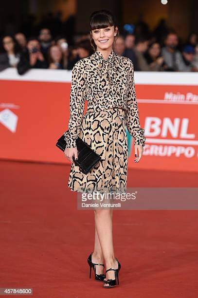 Alessandra Mastronardi attends the 'A Most Wanted Man' red carpet during the 9th Rome Film Festival at Auditorium Parco Della Musica on October 25...