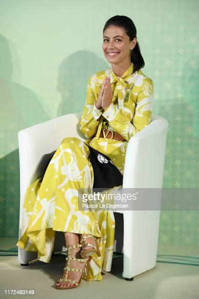 Alessandra Mastronardi attends the Alessandra Mastronardi Goodwill Ambassador Ceremony during the 76th Venice Film Festival at Excelsior Hotel on...