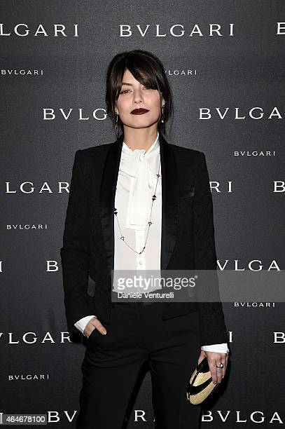 Alessandra Mastronardi attends the Bulgari Fall/Winter 2015 Accessories Presentation during the Milan Fashion Week Autumn/Winter 2015 on February 27...