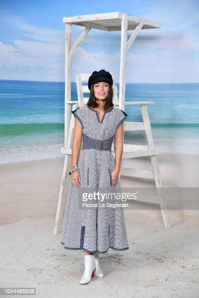 Alessandra Mastronardi attends the Chanel show as part of the Paris Fashion Week Womenswear Spring/Summer 2019 on October 2 2018 in Paris France