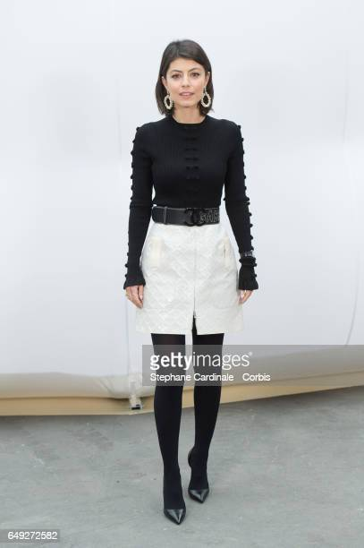 Alessandra Mastronardi attends the Chanel show as part of the Paris Fashion Week Womenswear Fall/Winter 2017/2018 on March 7 2017 in Paris France