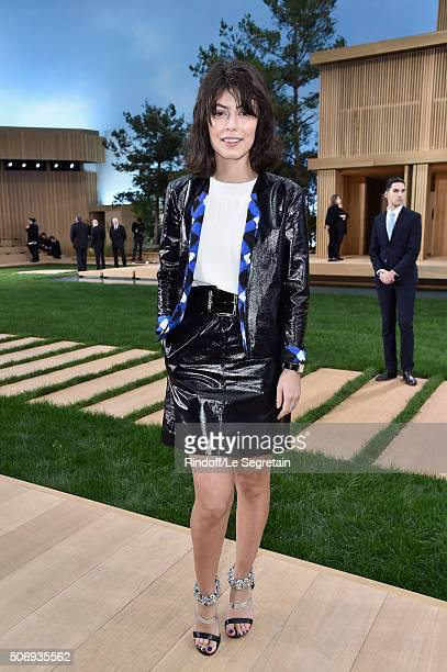 Alessandra Mastronardi attends the Chanel Spring Summer 2016 show as part of Paris Fashion Week on January 26 2016 in Paris France