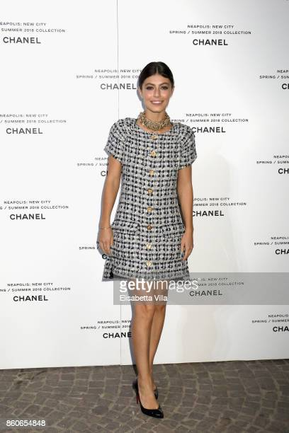 Alessandra Mastronardi attends the launch of Lucia Pica's Chanel SpringSummer 2018 Make up Collection on October 12 2017 in Naples Italy