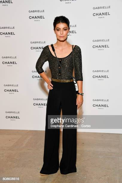 Alessandra Mastronardi attends the launch party for Chanel's new perfume Gabrielle as part of Paris Fashion Week on July 4 2017 in Paris France