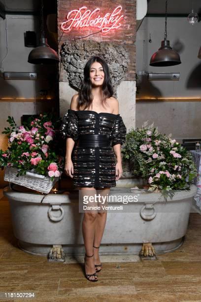 Alessandra Mastronardi attends the Philosophy Store Opening on October 16 2019 in Rome Italy