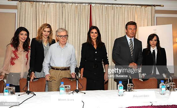 Alessandra Mastronardi Greta Gerwig Woody Allen Penelope Cruz Alec Baldwin and Ellen Page attend the 'To Rome With Love' Press Conference on June 19...