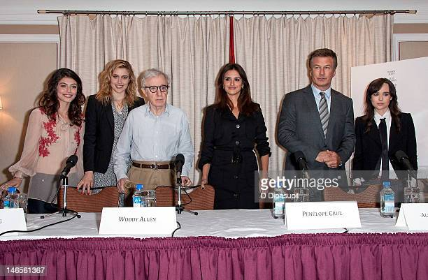Alessandra Mastronardi Greta Gerwig Woody Allen Penelope Cruz Alec Baldwin and Ellen Page attend the 'To Rome With Love' press conference at the...
